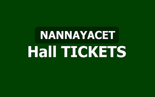 NANNAYACET 2019 Hall tickets, Exam dates (Nannaya PGCET)