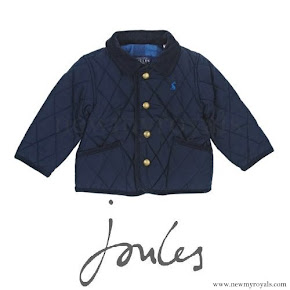 Prince George wore Joules Quilted Navy Jacket