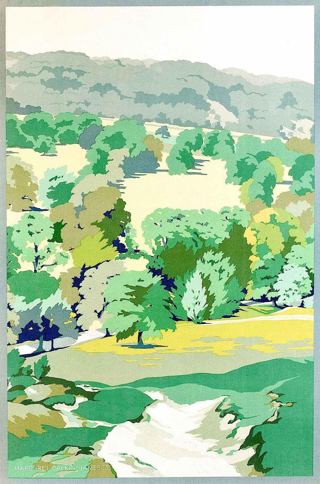 Margaret Calkin James poster art 1935 landscape