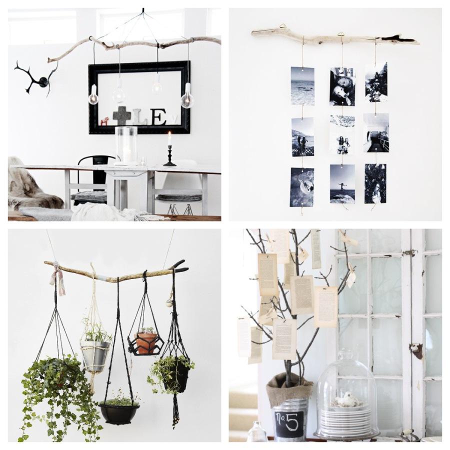 14 decorazioni fai-da-te con i rami che sicuramente vorrai provare a casa tua