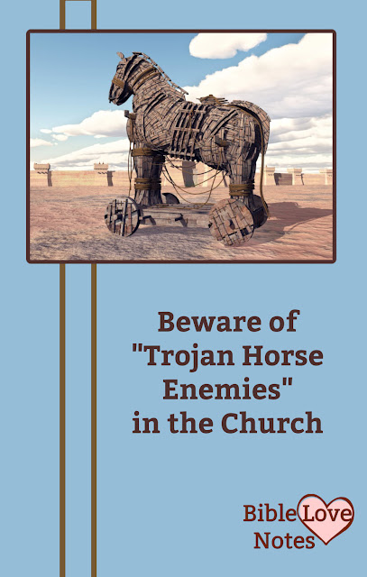 There are lies infiltrating the Church much like enemies entered the city Troy in ancient times. This 1-minute devotion explains.