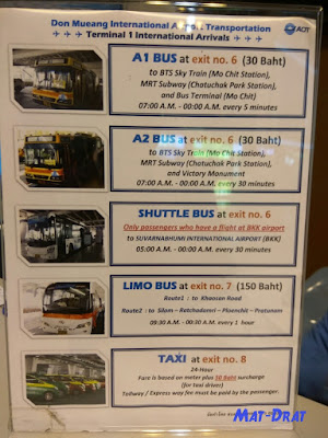 Airport Transfer Don Mueng Bangkok Airport to City