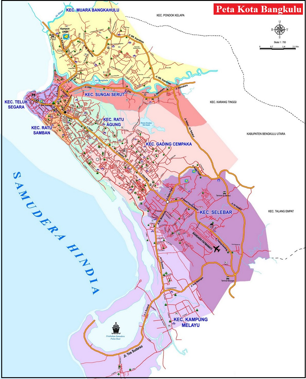 Peta Kota Bengkulu
