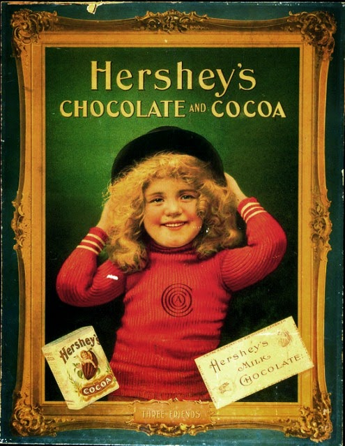 Propaganda do Chocolate Hershey's do ano de 1900