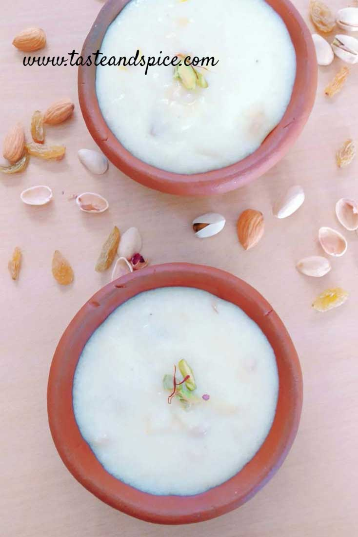 How to make Shahi Phirni Recipe