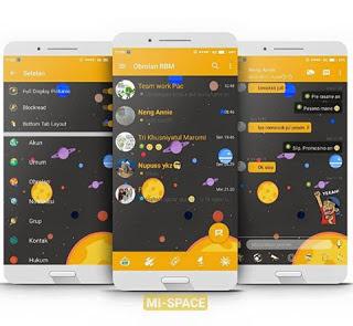BBM MOD MI-Space Update Apk Tanpa Iklan