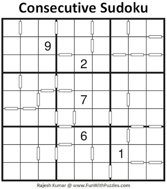 Consecutive Sudoku Puzzle (Fun With Sudoku #316)