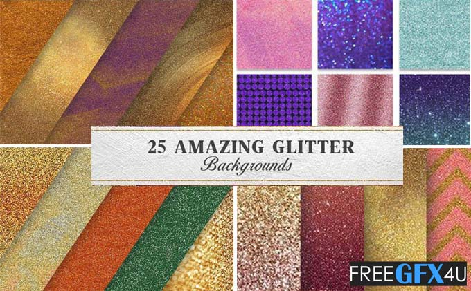 Amazing Glitter Backgrounds Pack Free Download