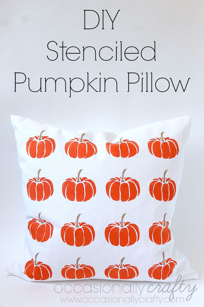 Make your own stenciled pillows in any color or design!