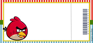 Tarjetas para Imprimir Gratis de Angry Birds.