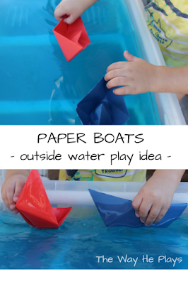 Paper boat collage