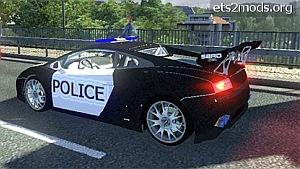 Lamborghini LP560 Police in AI traffic