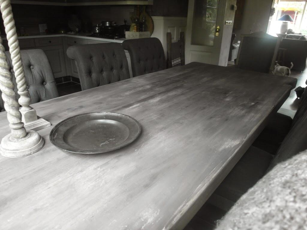 Eiken tafel vergrijzen blank eiken meubelen huis decor eiken