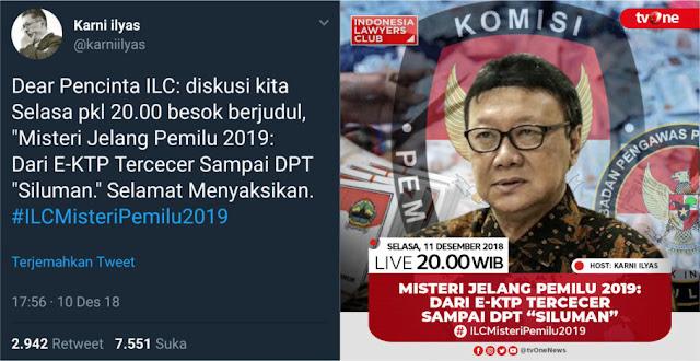 ILC Angkat Misteri DPT Siluman, Pimpinan MPR Menanggapi
