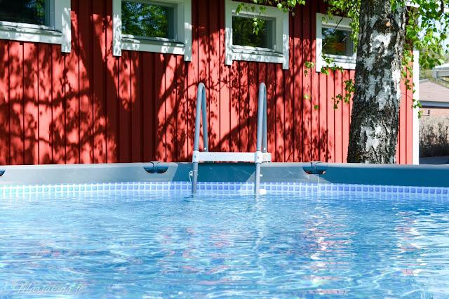 intex ultra frame uima.-allas allas kotipiha uimaan kesä aurinko