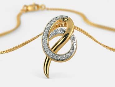 Model liontin emas huruf