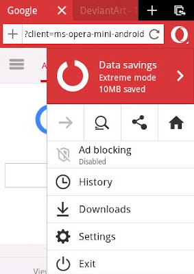 Opera Mini Phone Layout