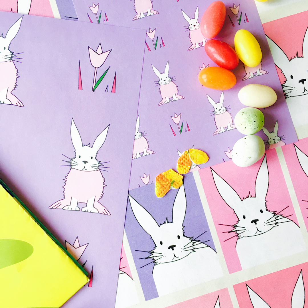 Free printable cute bunny planner stickers hasensticker freebie click here for the matching bunny pattern paper negle Images