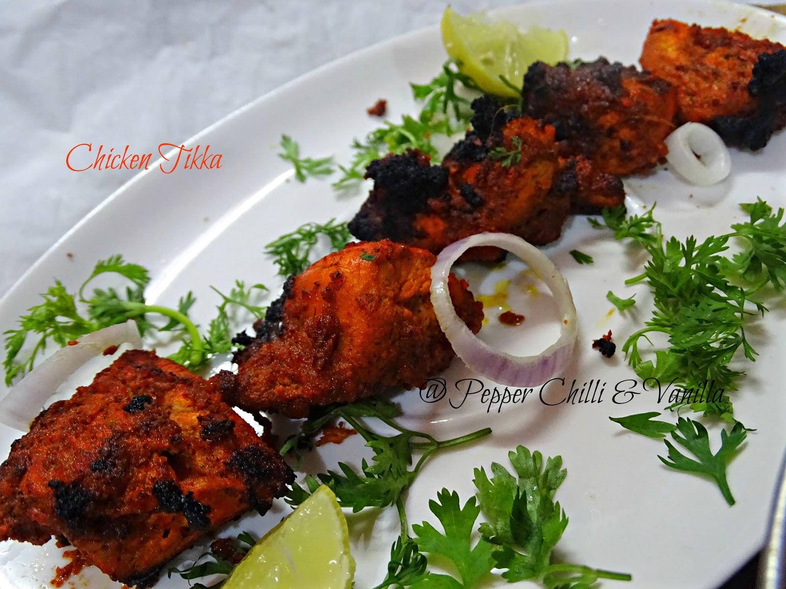 restaurant style chicken tikka