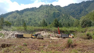 Galian C Diduga Tanpa Ijin Beroperasi di Desa Unjur Kabupaten Samosir