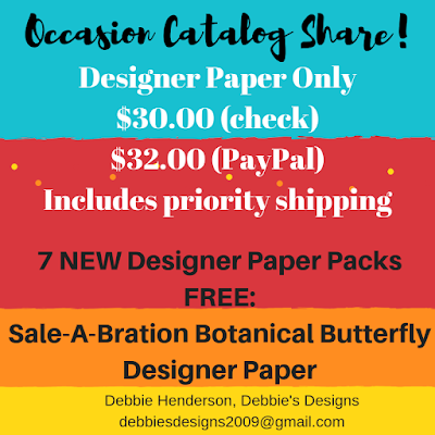 Occasions Catalog & Sale-A-Bration Catalog Product Shares Coming Soon and a Birthday Card My Hubby Created!
