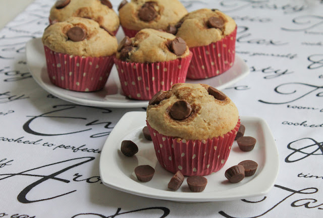 Food Lust People Love: These mini peanut butter cup muffins are full of peanut butter flavor and are studded with mini peanut butter cups inside and out.
