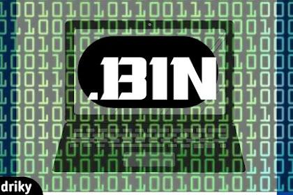 mengenal ekstensi file bin pada Komputer