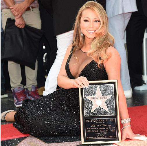 mariah carey hollywood hall of fame star