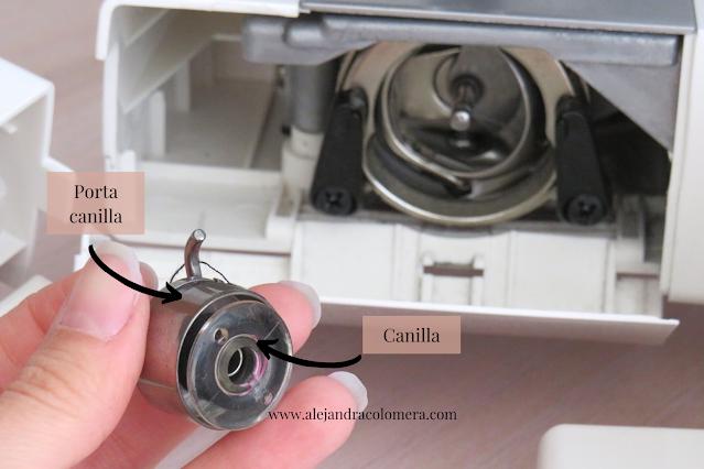 Partes máquina de coser canilla: Porta canillas y canilla