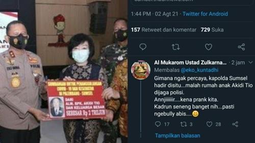 Donasi Rp2 T Akidi Tio Disebut Hanya Prank, Netizen: Kadrun Seneng Banget Nih