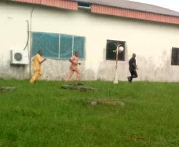 SEE Photos of Disgraced A'Ibom APC Self-Aclaimed Speaker Fleeing from Backdoor as Luke, 20 Lawmakers Arrive