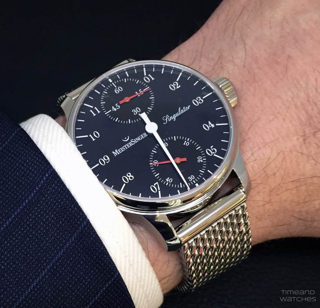 Sunburst Clock Meistersinger - Singulator With Anthracite Dial | Time And