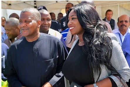 Peace Hyde Tours Africa's Largest Oil Refinery With Aliko Dangote