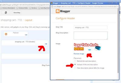 mengganti logo blog / toko online
