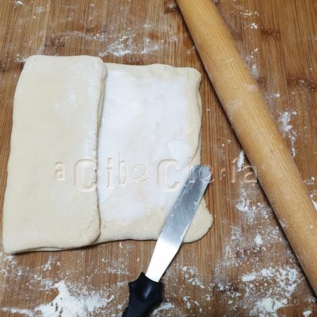 Masa hojaldrada con manteca de cerdo para empanadas, empanadillas, pasteles, rosquillas,
