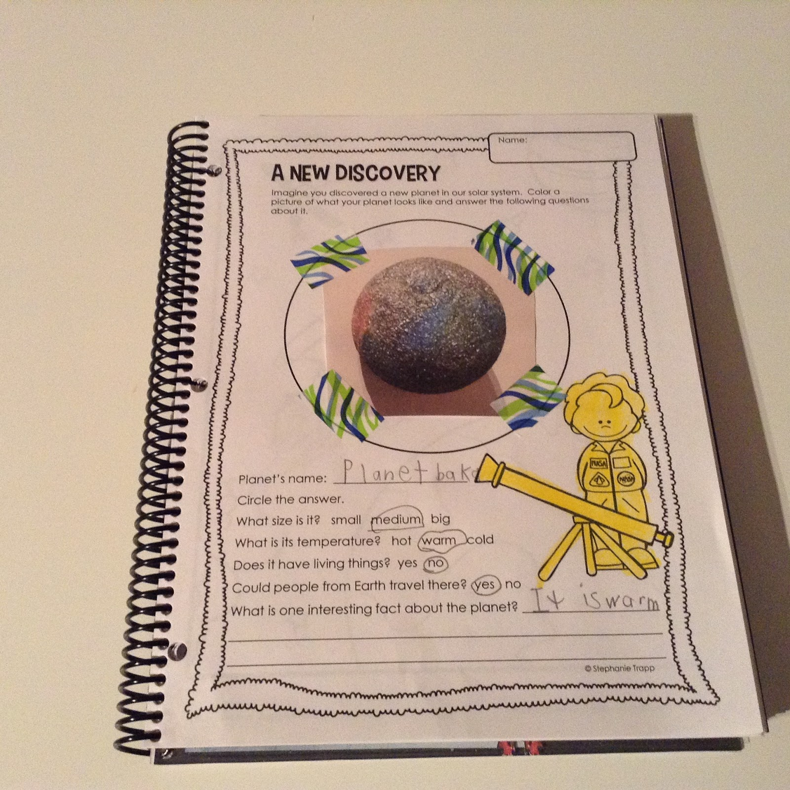 Teachermomplus3 If I Discovered A Planet Exploring