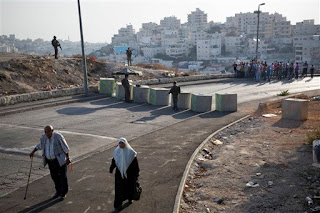 Issawiya neighboorhood during blockade