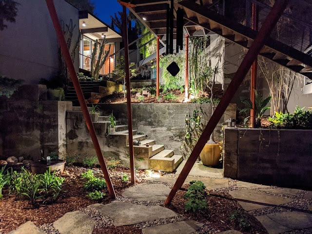 Kato residence at night