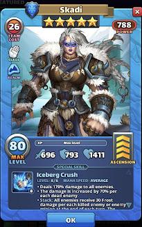 Skadi - Valhalla Hero Card