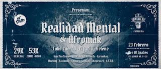Concierto de REALIDAD MENTAL + AFROMAK en Bogotá