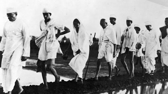 Aksi demo Gandhi Salt March, India ( 1930 )