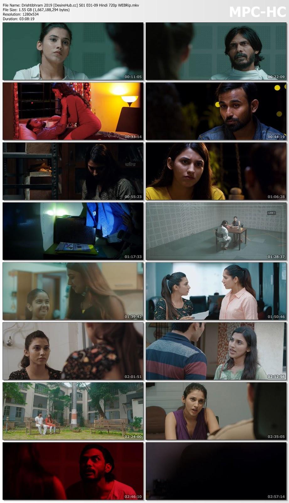Drishtibhram 2019 WEB-Series S01 [E01-09] Hindi 720p WebRip Desirehub