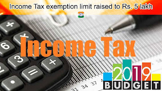 Budget 2019 Income Tax exemption