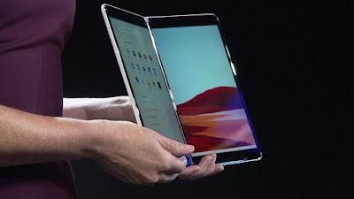 """مايكروسوفت تكشف النقاب عن جهاز كمبيوتر محمول """"Surface Neo"""" المختلط ، وجهاز """"Surface Duo"""" بشاشة أندرويد مزدوجة"""