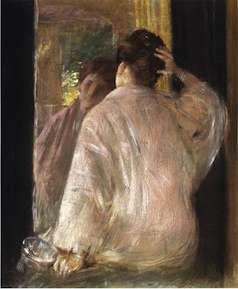 Уильям Меррит Чейз William Merritt Chase (1849 - 1916) - Дороти перед зеркалом