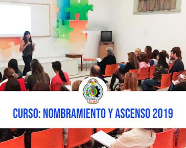CURSO PARA NOMBRAMIENTO Y ASCENSO DE ESCALA 2019