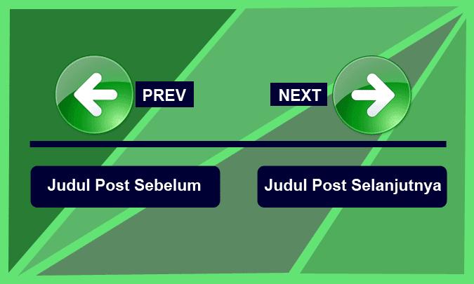 Mengganti Next dan Previous Dengan Judul Postingan Artikel