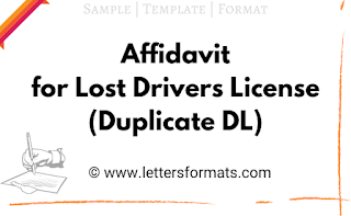 how to write affidavit for lost drivers license