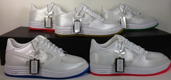 wholesale dealer 702e3 0d05e ... March 30th, 2013 Nike Sportswear released a special NIKE LUNAR FORCE 1  FUSE QS Nike lunar Air Force 1 fuse yellow bottom Easter egg hunt s Cheap  ...