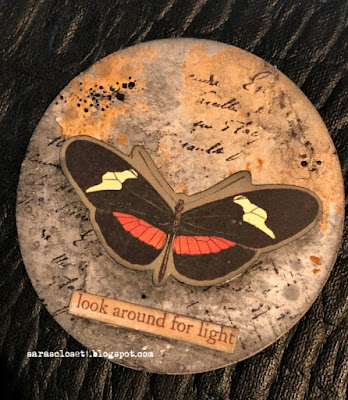 Sara Emily Barker https://sarascloset1.blogspot.com/2020/06/my-butterfly-collection.html Mixed Media AT Coins 3